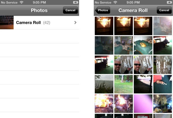 iOS Camera roll and library