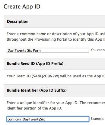 New App ID