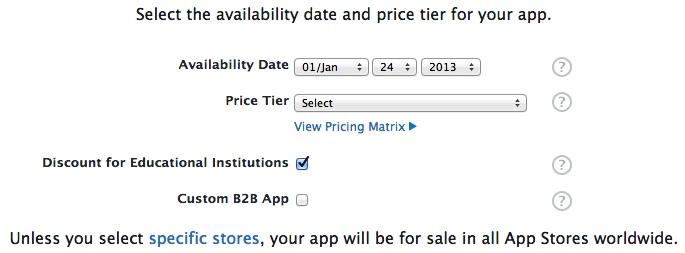 Availability Info