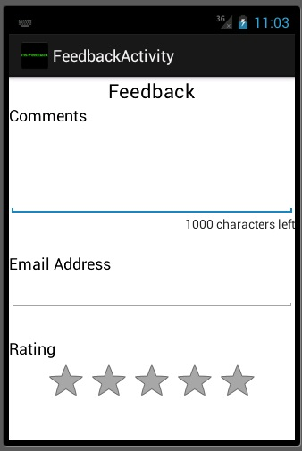 Android feedback app