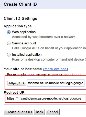 Google Auth URI