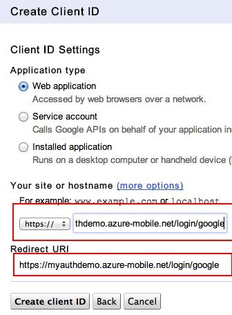 Google Auth URI