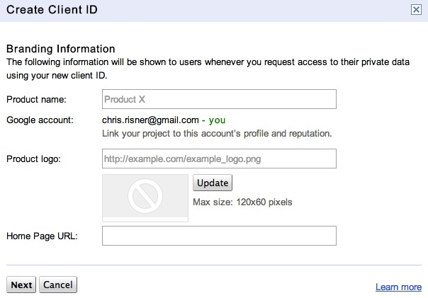 Create Client ID