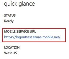 Mobile Service URL