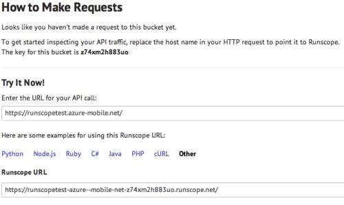 Runscope make requests