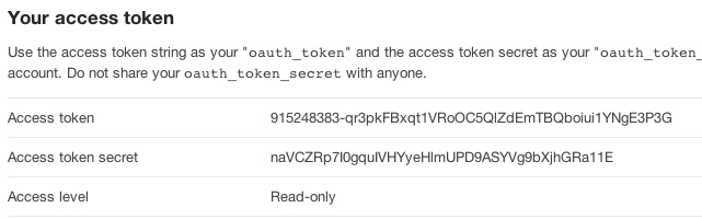 Twitter Access Token