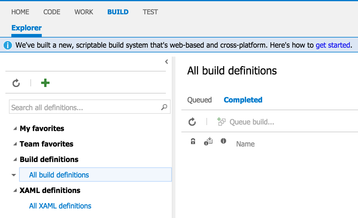 VSO Build Definition