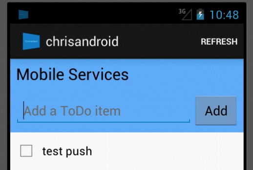 Push in status bar