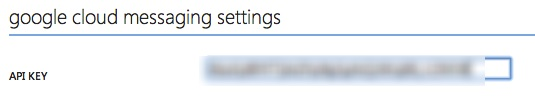 GCM Settings in WA Portal