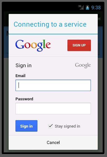 Google Auth for WAMS
