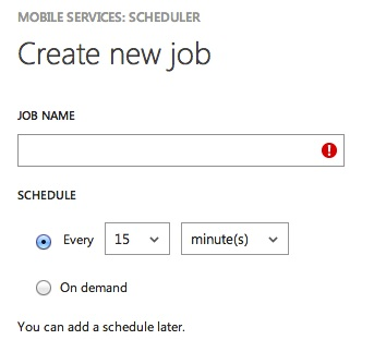 Creating a scheduled job
